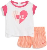 Nike Infant Girl's Graphic Tee & Shorts Set