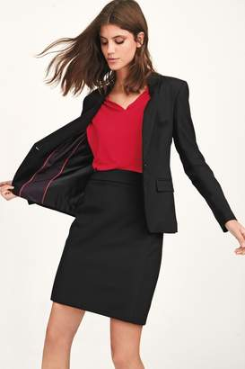 Next Womens Black Tailored Fit Skirt - Black