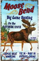 """Red Horse Moose Bend Vintage Wooden Sign, 15""""x26"""""""