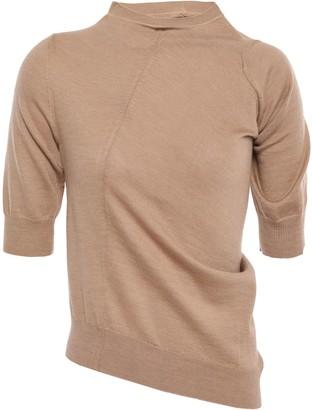 Jil Sander Asymmetric Draped Wool Sweater