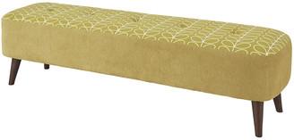 Orla Kiely Linear Stem Donegal Footstool- Dandelion/White - Large
