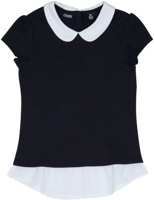 Chaps Girls 4-16 School Uniform Peter Pan Collar Top