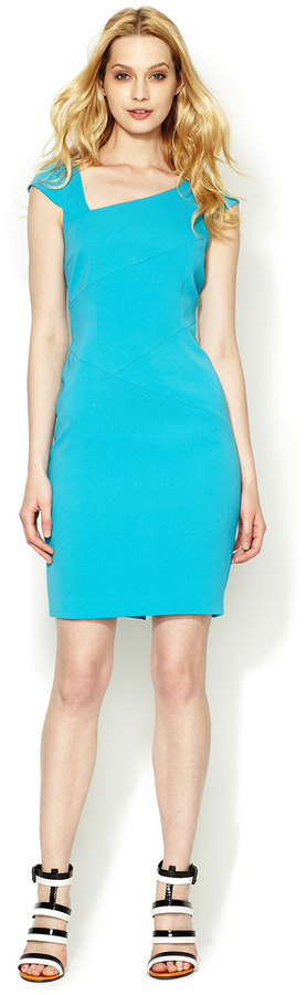 Jay Godfrey Pickering Asymmetrical Seamed Sheath Dress