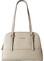 Calvin Klein Claudia Glazed Leather Satchel