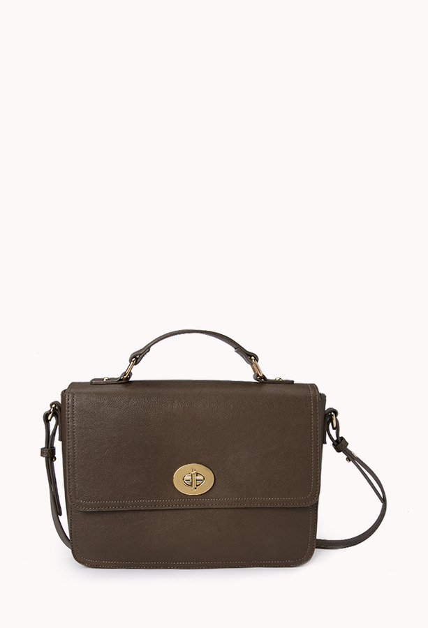 Forever 21 Classic Faux Leather Satchel