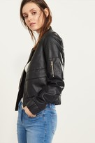 Dynamite Faux Leather Bomber Jacket