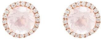 Dana Rebecca Designs 14kt Rose Gold Diamond Quartz Stud Earrings