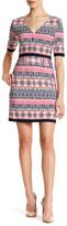Eliza J Print Jersey Popover Dress (Petite)