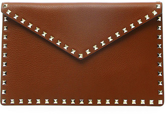 Valentino Rockstud Large Envelope Clutch Bag