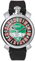 GaGa MILANO Men's Las Vegas Roulette 48mm Black Mechanical Watch 5010.lv.01s