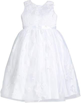 Joan Calabrese Lace Overlay Tea Length Dress, Size 4-10