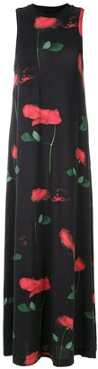 OSKLEN Rose-Print Long Dress
