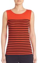 Akris Punto Striped Wool Shell