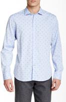 Ganesh Leaf Print Long Sleeve Slim Fit Shirt