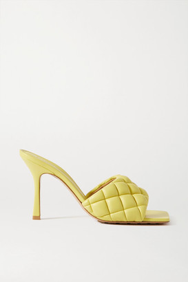 Bottega Veneta Quilted Leather Mules - Yellow