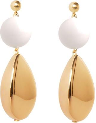 Pietrasanta Summer Earrings - White & Gold