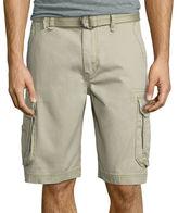 UNIONBAY Union Bay Survivor Belted Vintage Cotton Twill Cargo Shorts