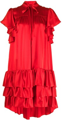 Adam Lippes Flounce Sleeve Shift Dress