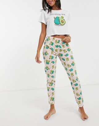 Brave Soul 'avo good time' pants pyjama set