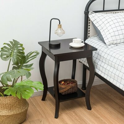 Red Barrel Studio Ayca Solid Wood End Table With Storage Color Coffee Shopstyle