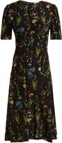 Altuzarra Sylvia short-sleeved floral-print silk midi dress