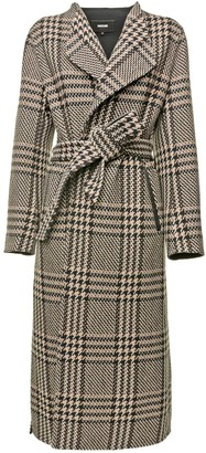 Mackage Wrap Tartan Coat