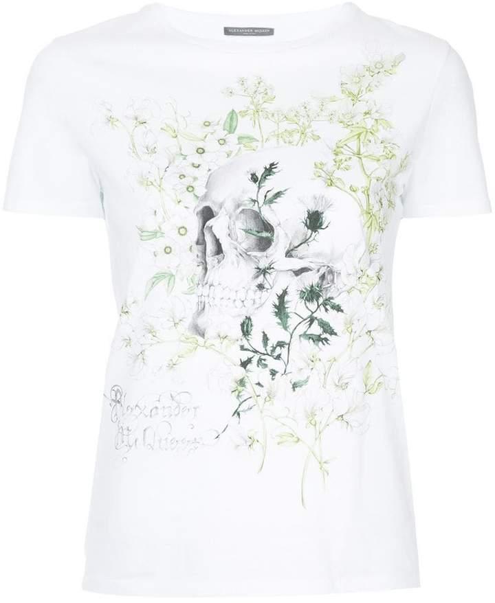 Alexander McQueen skull and floral print T-shirt