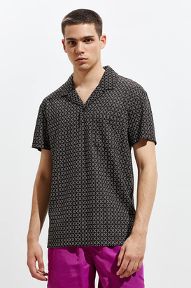 Urban Outfitters Jacquard Camp Collar Polo Shirt