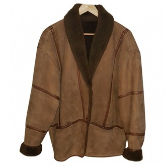 Barbara Bui Brown Leather Leather Jacket for Women Vintage