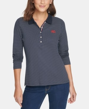 Tommy Hilfiger Cotton Pin-Dot Polo Shirt, Created for Macy's