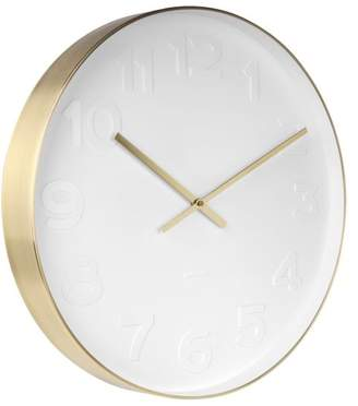 Karlsson Gold White Extra Large Wall Clock 51 cm