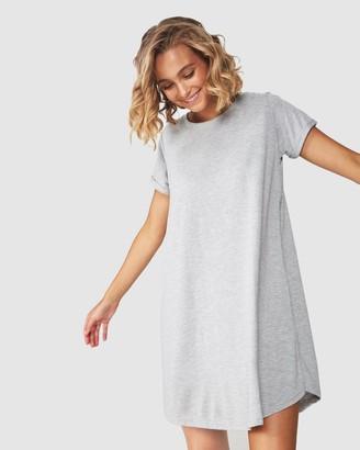 Cotton On Women's Grey T-Shirt Dresses - Tina T-Shirt Dress 2 - Size XS at The Iconic