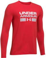 Under Armour Boys' Crossbar Logo Long Sleeve T-Shirt