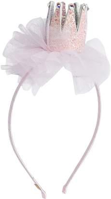 Bari Lynn Glitter Tutu Crown Hairband