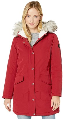 MICHAEL Michael Kors Snap Front Polyfill Anorak M424324TZ (Black) Women's Coat