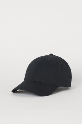 H&M Cotton Twill Cap - Black