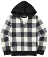 Ralph Lauren Boys' Buffalo Check Reverse Fleece Hoodie - Sizes S-XL