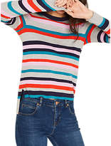 Oasis Rainbow Stripe Jumper, Grey/Multi