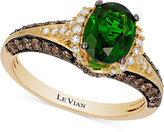 LeVian Le Vian Chocolatier® Chrome Diopside (1-1/10 ct. t.w.) and Diamond (2/3 ct. t.w.) Ring in 14k Gold