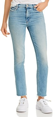 Mother The Dazzler Frayed Ankle Jeans in Jackpot
