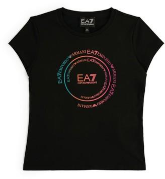 Emporio Armani Kids Cotton Logo T-Shirt (6-14 Years)