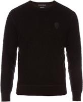 Alexander McQueen Skull-appliqué long-sleeved sweatshirt