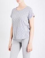 Tommy Hilfiger Logo-print cotton-blend pyjama top
