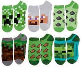 Asstd National Brand Boys Minecraft 6 Pair No Show Socks