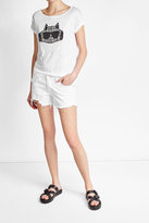 Karl Lagerfeld Embroidered Linen T-Shirt