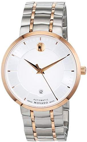 Movado Mens Analogue Classic Automatic Watch with Stainless Steel Strap 607063