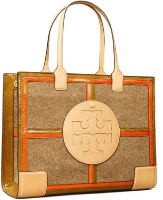 Tory Burch Ella Mixed-Materials Quadrant Tote Bag