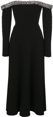 Jason Wu Collection embellished off the shoulder dress