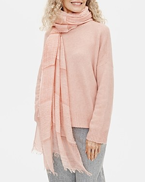 Eileen Fisher Sheer Fringed Scarf
