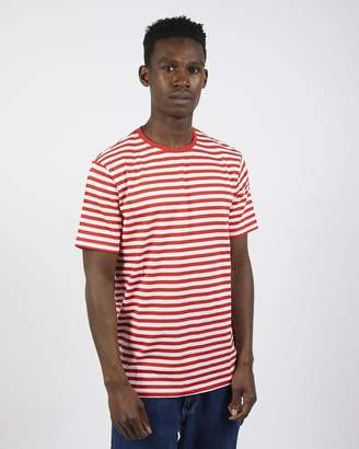 The Idle Man - Stripe T-Shirt Red